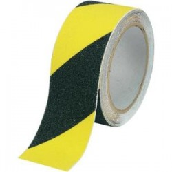 bande autocollante antid rapant jaune noir stocksignes. Black Bedroom Furniture Sets. Home Design Ideas