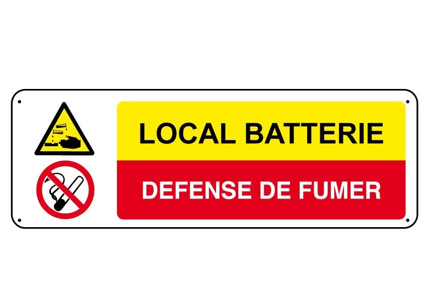 Panneau Local Batterie Défense de Fumer