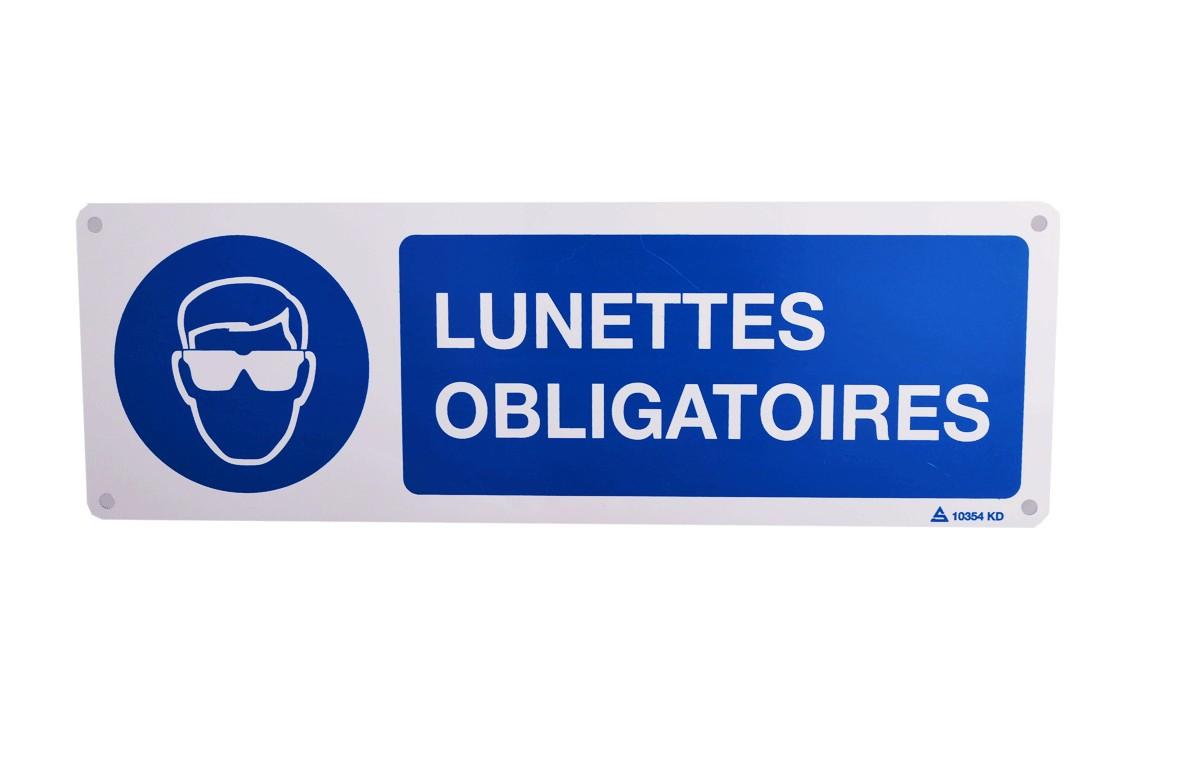 Panneau Lunettes Obligatoires