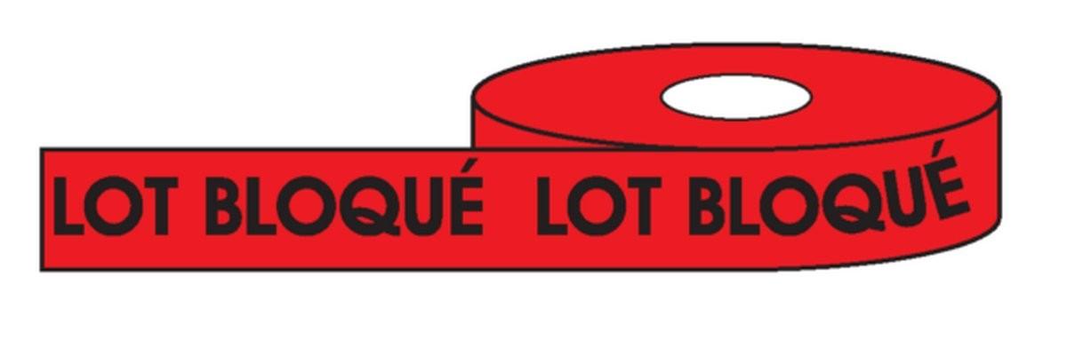 Lot bloqué Rouleau adhésif