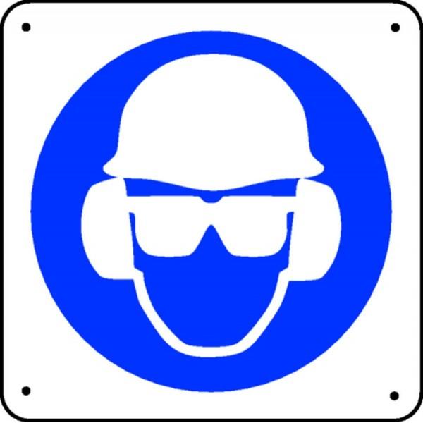 Panneau lunettes casque et anti bruit picto stocksignes - Panneau anti bruit interieur ...