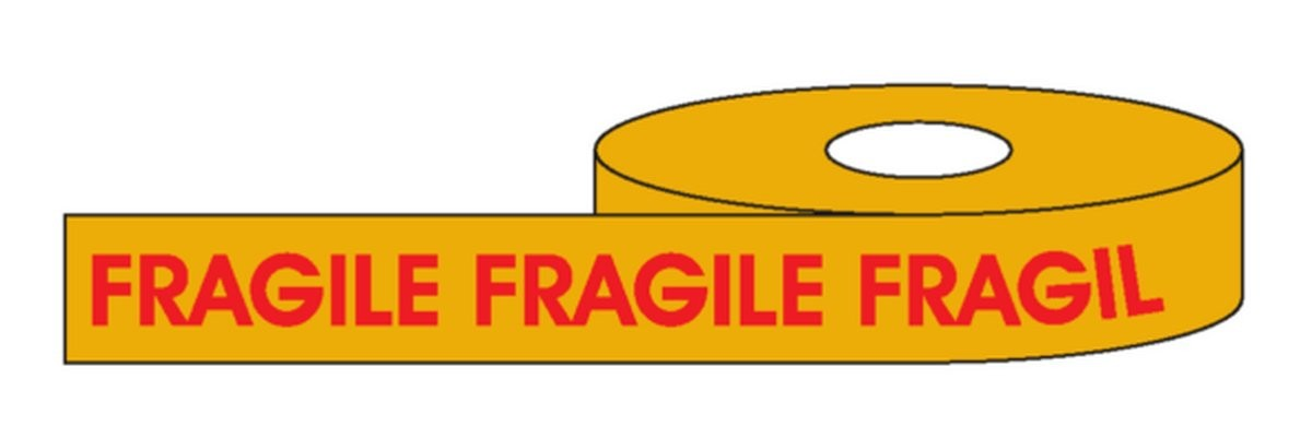 Fragile Rouleau adhésif