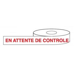 En attente de contrôle Rouleau adhésif