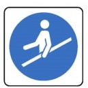 Tenir la rampe des escaliers roulants