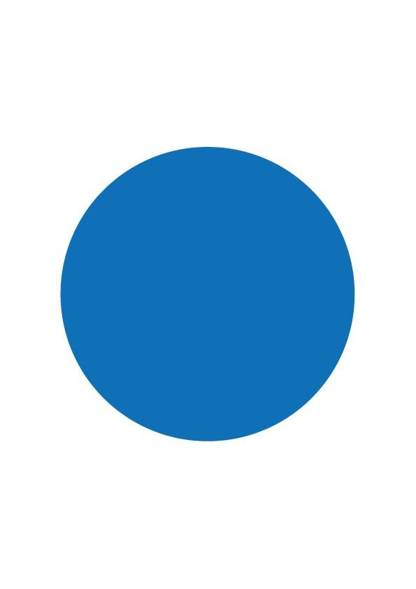 Pastilles de couleur bleue