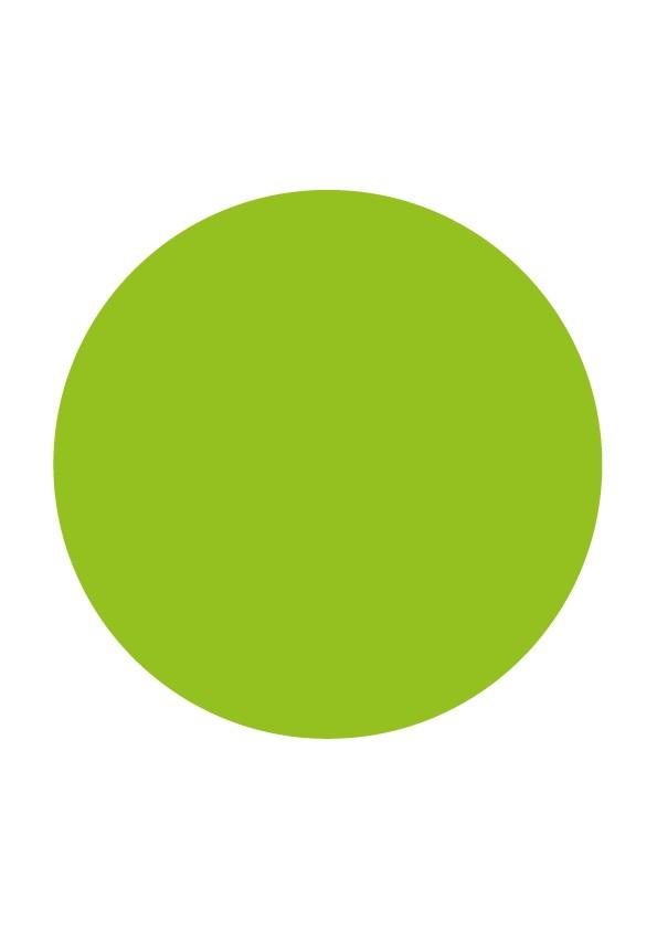 Pastilles de couleur verte
