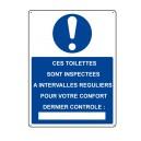 Ces Toilettes sont inspectées