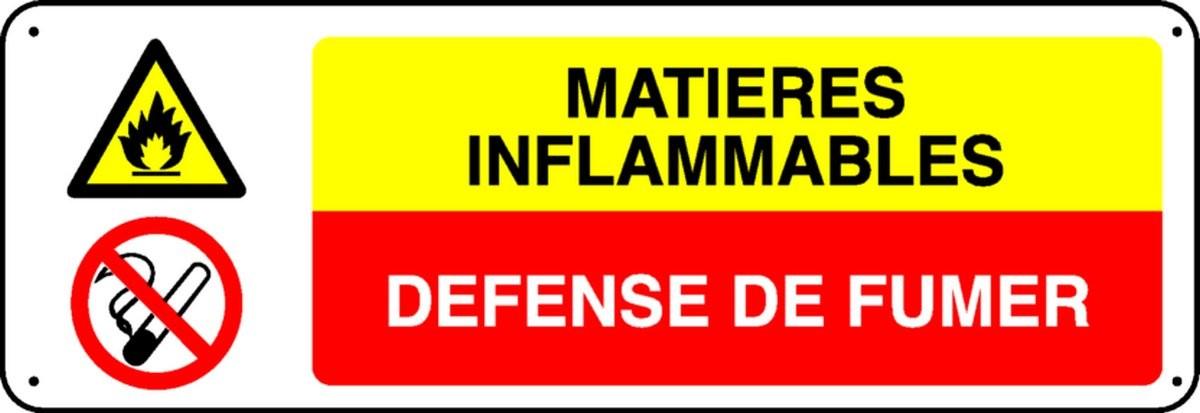 Panneau Matières Inflammables Défense de Fumer