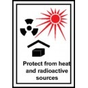 Etiquette Protect from heat and radioactive sources