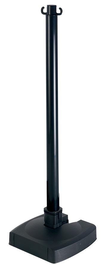 Poteau PVC Noir rabattable