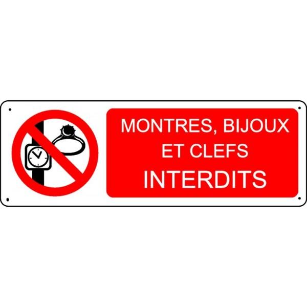 Panneau Montres Bijoux Et Clefs Interdits Stocksignes