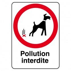 Panneau Pollution Interdite