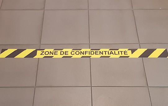 Bande adhésive Zone de confidentialité
