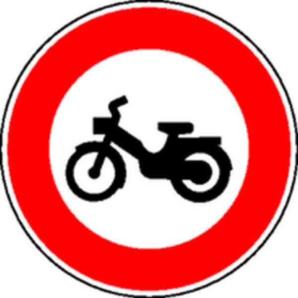 Panneau Interdit aux cyclomoteurs Classe 2