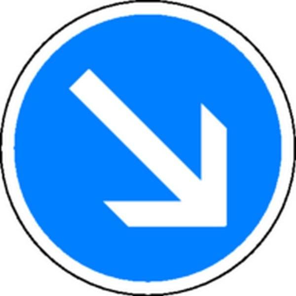 Panneau Obligation de passer à droite Classe 2