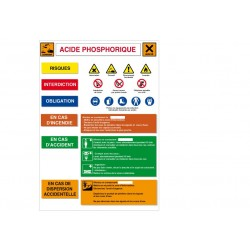Affiche Acide phosphorique