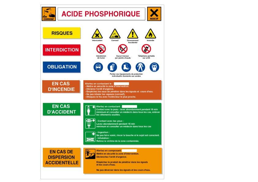 Affiche Acide phosphorique