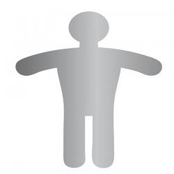 Homme Toilettes Picto (Acier Inox)