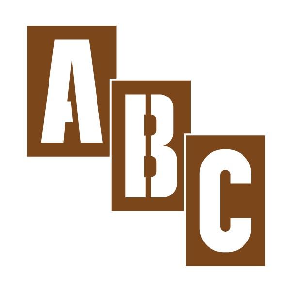 Kit de lettres pochoir stocksignes - Pochoir pour meuble en bois ...