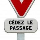 Panneau Cédez le passage Cl. 1