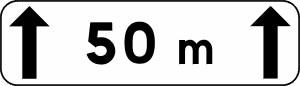 Panneau Indication Distance Cl. 1
