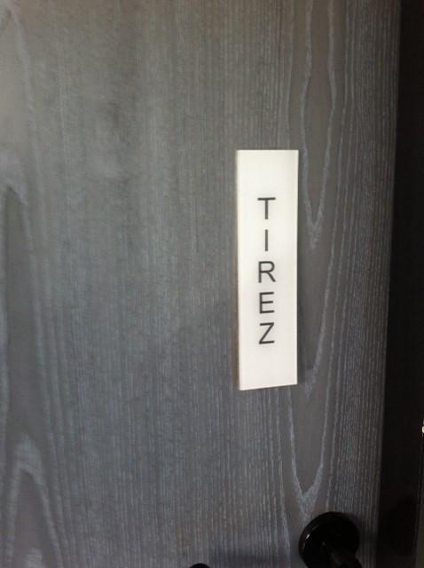 Plaque de porte Tirez ( vertical )