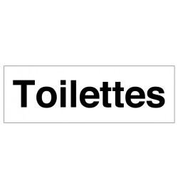 Panneau Toilettes