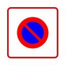 Panneau Zone stationnement interdit Classe 1
