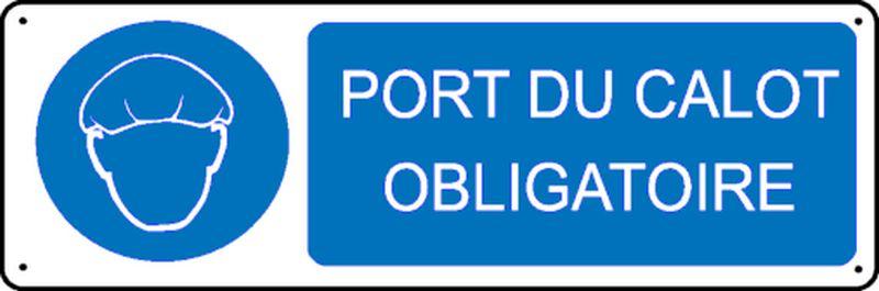 Panneau Port du Calot obligatoire