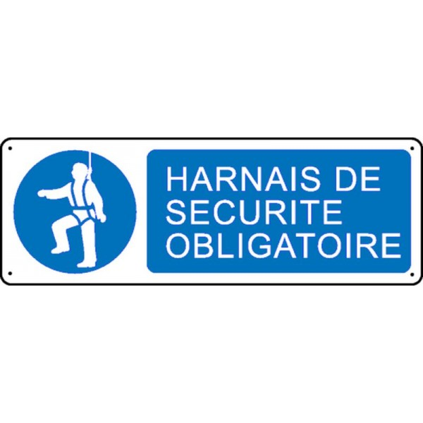 Panneau harnais de s curit obligatoire stocksignes for Harnais de securite elagage