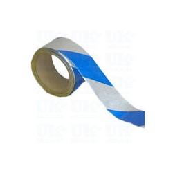 Rouleau Adhésif Réfléchissant Bleu/Blanc