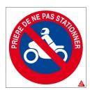 Etiquette Stationnement interdit 2 roues Picto