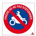 Stationnement interdit 2 roues Picto