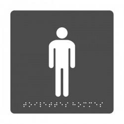 Pictogramme Toilettes Hommes + Braille
