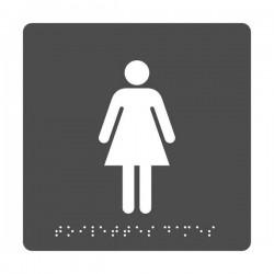 Pictogramme Toilettes Femmes + Braille