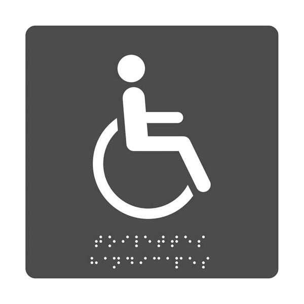 Pictogramme Toilettes PMR + Braille