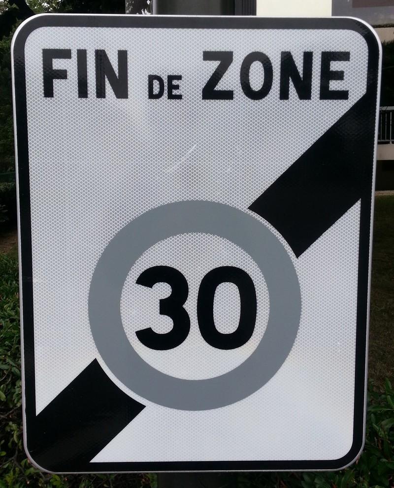 Panneau Fin de Zone limitée Classe 1