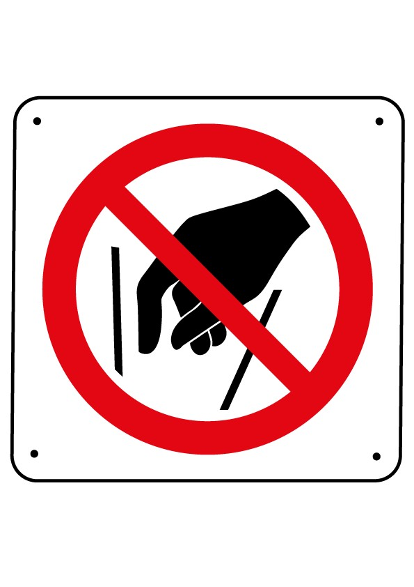 Ne pas mettre les mains Picto