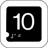 Panneau 10 (Numéro tactile)