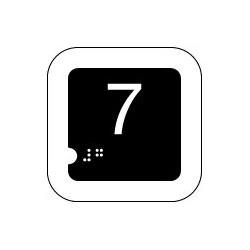 Panneau 7 (Numéro tactile)