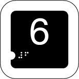 Panneau 6 (Numéro tactile)