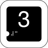 Panneau 3 (Numéro tactile)