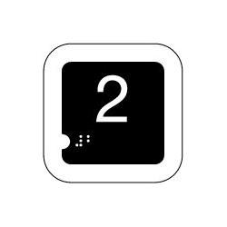 Panneau 2 (Numéro tactile)