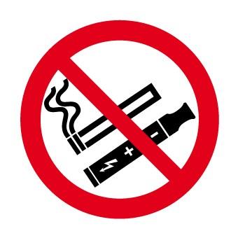 Panneau Interdit de fumer et de vapoter Picto
