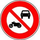 Circulation interdite aux motos et voitures Classe 1 Ø450mm