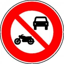 Panneau Circulation interdite aux motos et voitures Classe 2