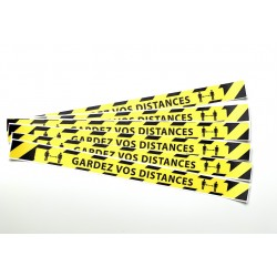 Lot de 6 bandes de sol GARDEZ VOS DISTANCES