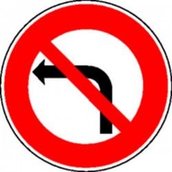 Panneau Défense de tourner à gauche Classe 2