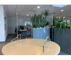 Ecran plexiglas - protection de comptoir et guichet