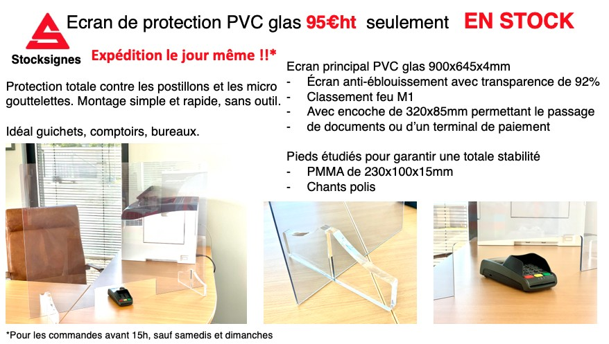 Ecran de protection Plexiglas